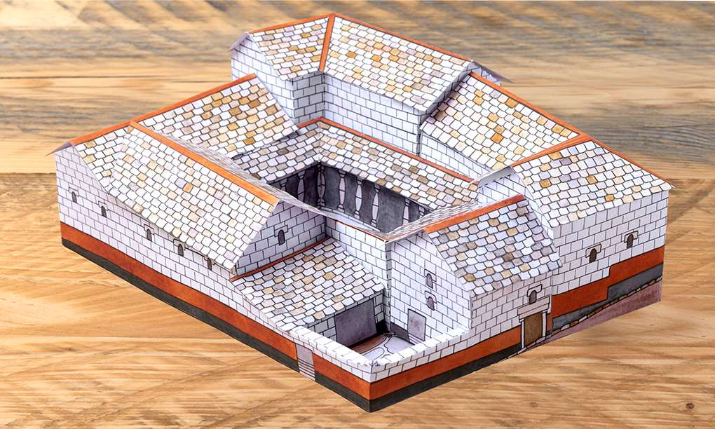 Make your own  model house from Housesteads Roman Fort