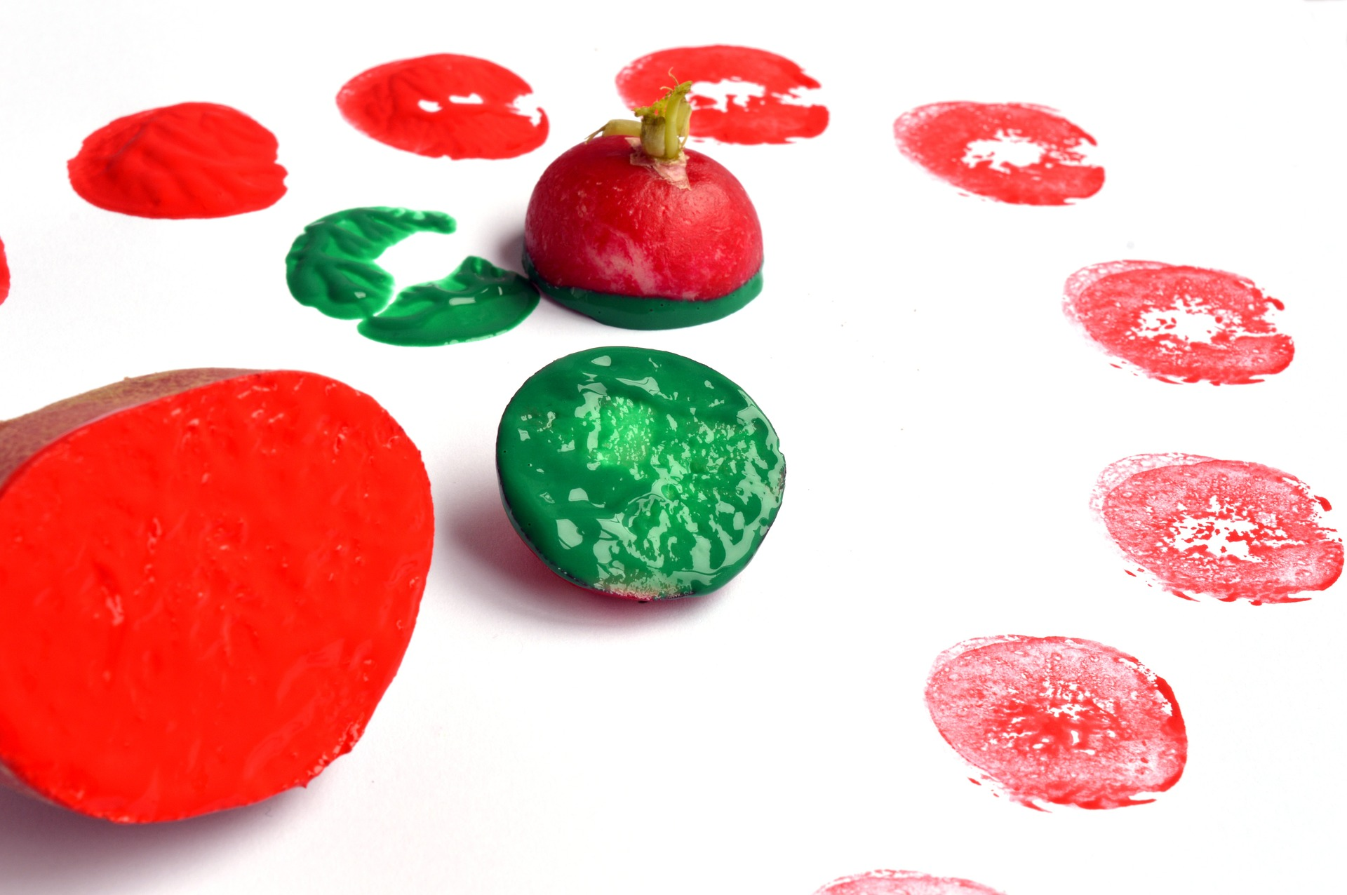 Vegetable Print (wrapping paper)